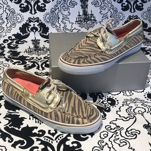 Sperry Animal Print Sequence Loafer sz 7 1/2